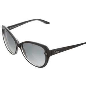 Dior Pondichery 1 Sunglasses Cat Eye Black Grey